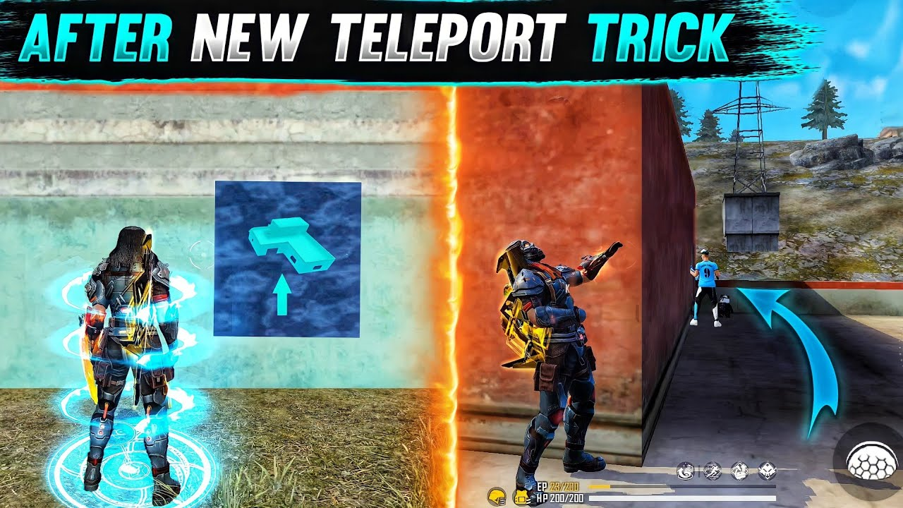 Top 5 New Unknown Tricks in free fire || Teleport Trick 😱 Working 100% in Garena Free Fire