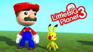 LittleBigPlanet 3 - Mario's Epic Pokemon Battle! - Short Funny Animation
