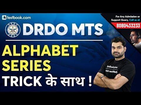 Alphabet Series in Reasoning for DRDO MTS 2020 | DRDO Reasoning Class by Abhinav Sir