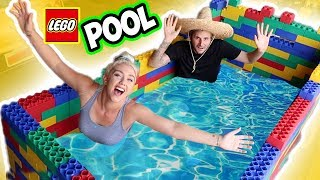 BUILDING A GIANT LEGO POOL! $10,000 !! SO COOL!