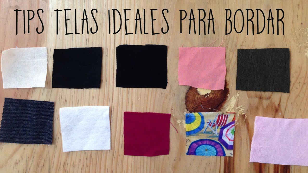 Tips telas ideales para bordar youtube - Flores de telas hechas a mano ...