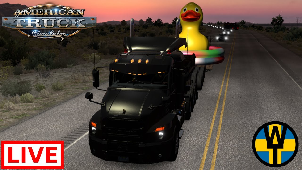 Hauling Ducky across America from North to South before he is given away! | American Truck Simulator