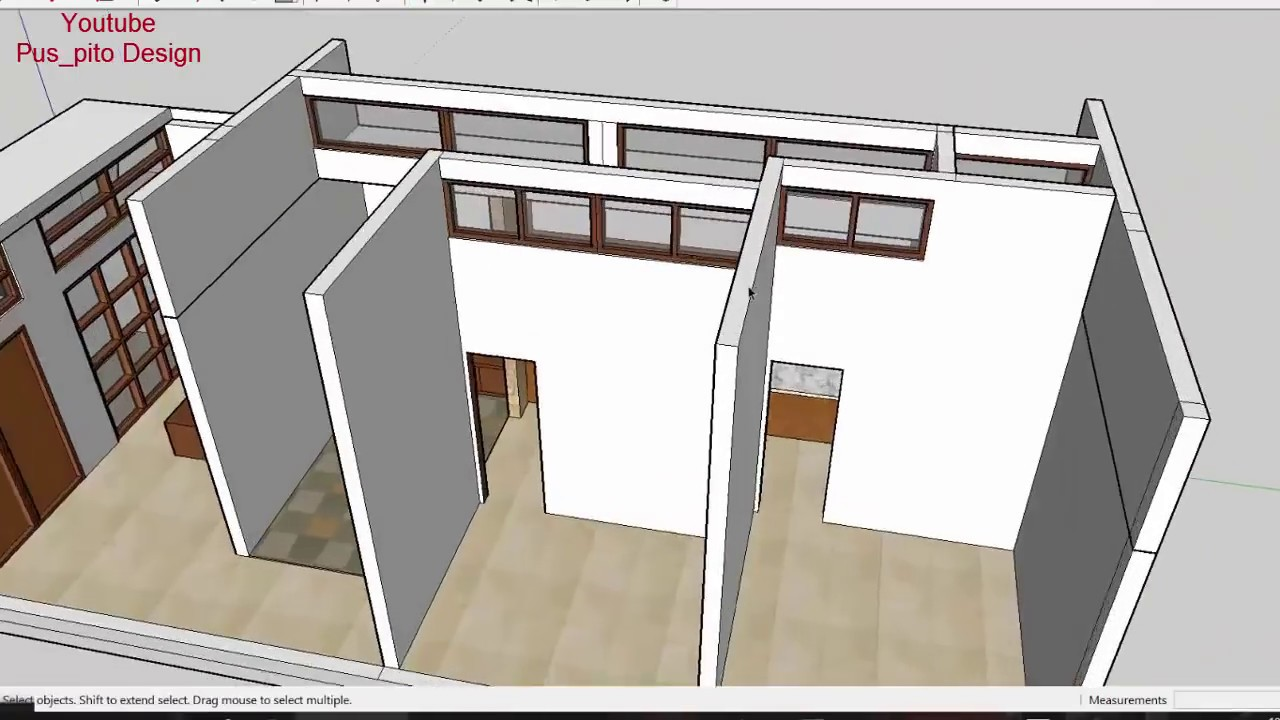 Eps 07 Desain rumah  Ukuran 5x12 meter Sederhana 1 Lantai