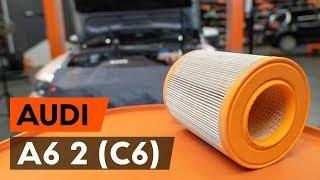 Cómo cambiar Elemento filtro de aire AUDI A6 (4F2, C6) - vídeo guía