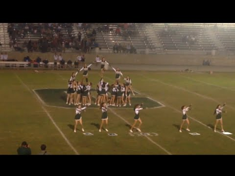 Garces Memorial High School Cheerleading Homecoming 2015 1/2 performance routine