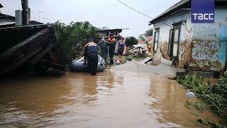 В Уссурийске из за паводка после ливня ввели режим ЧС