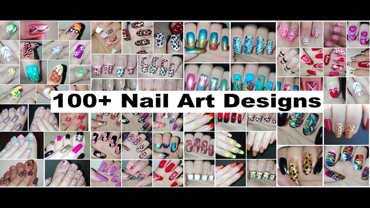 100 Nail Art Designs Compilation For My 100th Video On Youtube