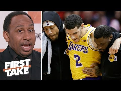 Lonzo Ball's injury doesn't impact Lakers' playoff chances – Stephen A. | First Take
