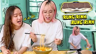 Misthy lần đầu thực hiện thử thách nấu ăn trên máy rung || FOOD CHALLENGE