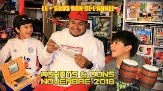 (EP56) Achats et dons novembre 2018