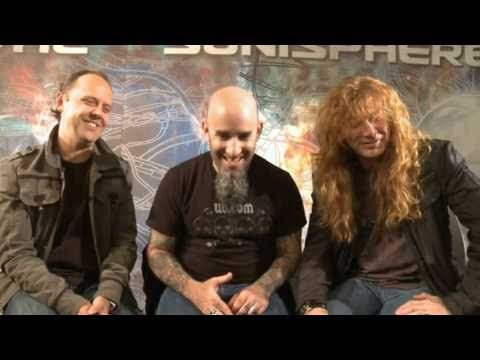 Lars Ulrich - Dave Mustaine ... / AND SCOTT IAN / and Kerry King from Slayer.