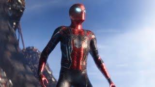 Человек Паук надевает новую броню - Мстители:Война Бесконечности (2018) Момент из фильма.