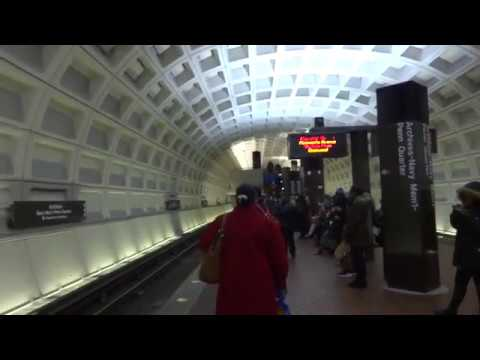 Very Busy Ride on WMATA Alstom 6021 on the Green Line
