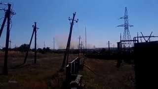 Минометный обстрел Луганская область Украина   YouTube