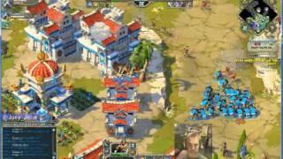 Age Of Empires Online Walkthrough - Pt.206 Greek -even More Cretins Hard 30 Waves Coop (ii)
