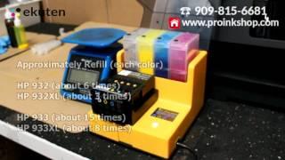 Auto Refill Recharger Hp 932 933 932XL 933XL Cartridge - HP 6100 6600 6700 7110 7610 7612