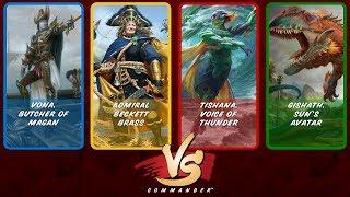 Commander VS S9E1: Vona vs Beckett vs Tishana vs Gishath