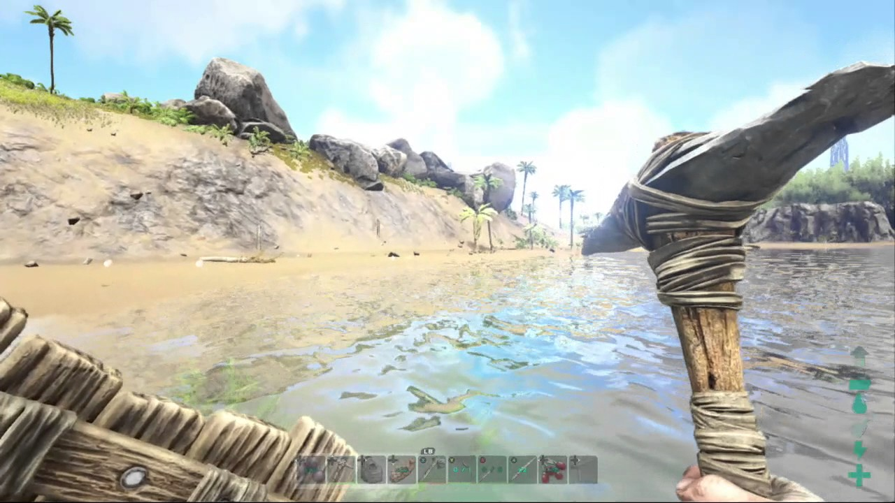 (Xbox One) ARK: Survival Evolved [5] Building a Raft!