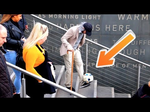 Old Man Crazy Football Skills Prank
