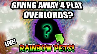 Bubble Gum Simulator LIVE GIVEAWAY 🌈 Platinum Overlords + Rainbow Pets 💜