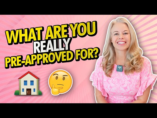 Home Buyer 101: First Time Homebuyers! What Are You Really Pre-Approved For and What To Submit? 📝