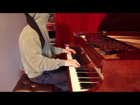Playing Piano BLINDFOLDED - Chopin Winter Wind etude - John Yang