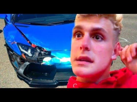 Jake Pauls New Lamborghini Crashed Leaked Video Youtube