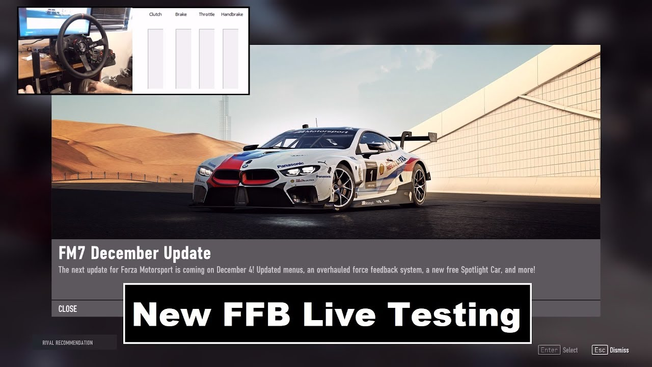 Setting Your Wheel Up for Forza Motorsport 7's New Force