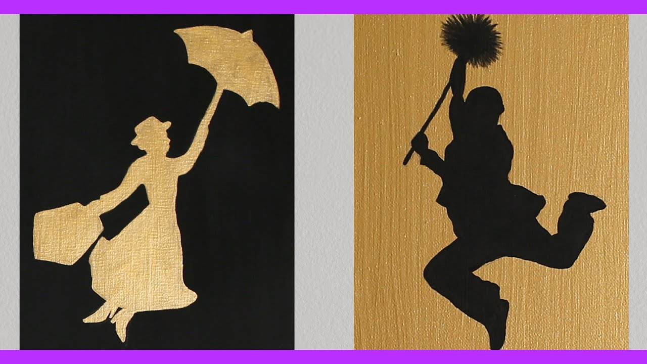 Di disney frozen wall murals - Diy Mary Poppins Inspired Wall Art An Anneorshine Disney Exclusive Youtube