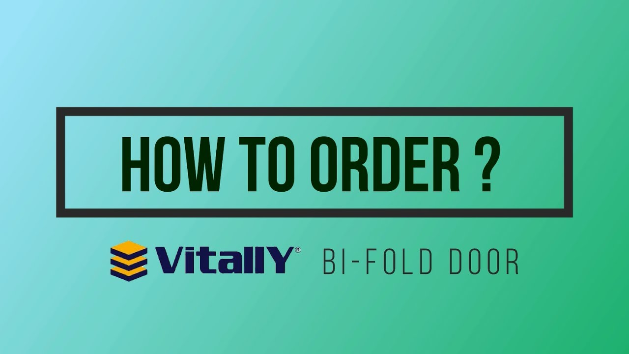 ATKC eWarehouse - How to order? Vitally Bi-Fold Door System  sc 1 st  YouTube & ATKC eWarehouse - How to order? Vitally Bi-Fold Door System
