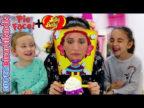 Cara Splash & Jelly Bean Boozled! Rejugando Pie Face Challenge en SUPERDivertilandia.