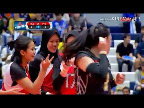Voli Putri , ASEAN GRAND PRIX 2019 ' INDONESIA VS PHILIPPINES ( SET 1 )