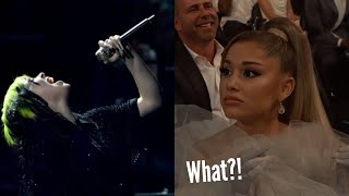 Ariana Grande reacting to various famous singers!