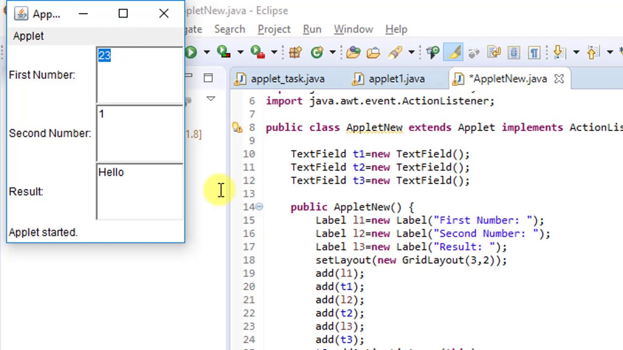 Download Building your first Applet in Java - Tutorial for beginners   Introduction to Applets