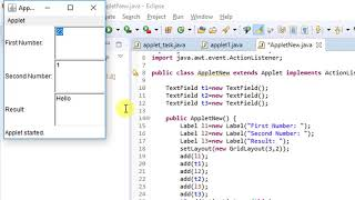 Building your first Applet in Java - Tutorial for beginners | Introduction to Applets