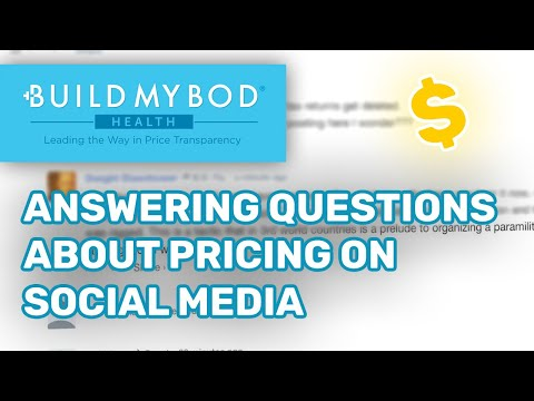 Answering questions about pricing on social media