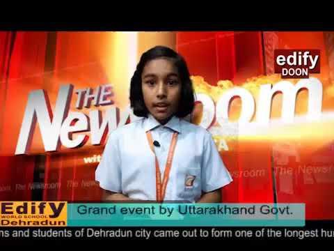 "Edify doon News on ""human chain "" event by Utrakhand Govt"