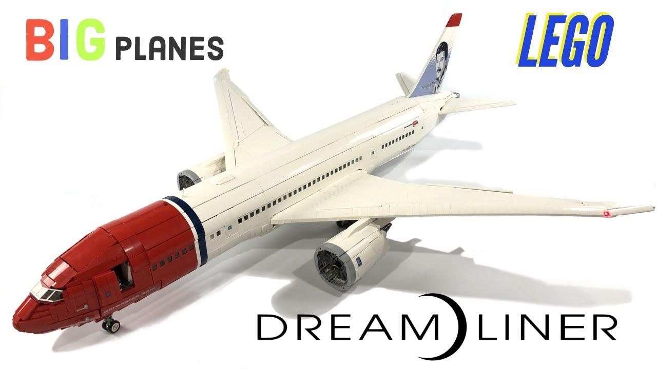 Custom LEGO Norwegian Airlines 787 Dreamliner Over 15,000 pieces!!