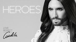Conchita Wurst – HEROES (lyrics video)