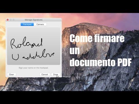 Tutorial Mac #77 - Come Firmare Al Volo Un PDF (OS X Yosemite)