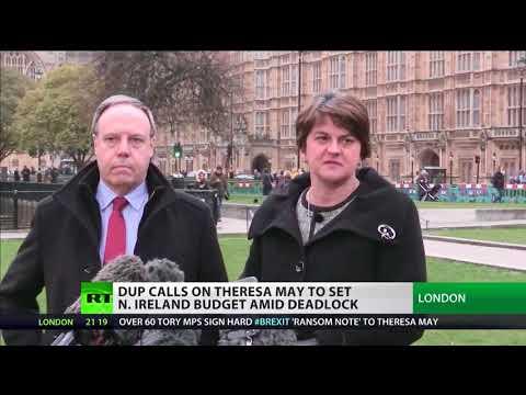 DUP calls on May to set N.Ireland budget amid deadlock