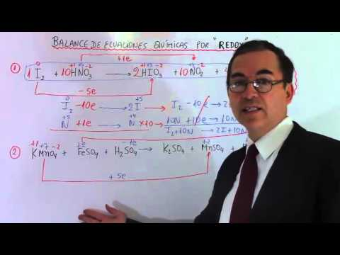 Balanceo de ecuaciones químicas por REDOX  Número 1