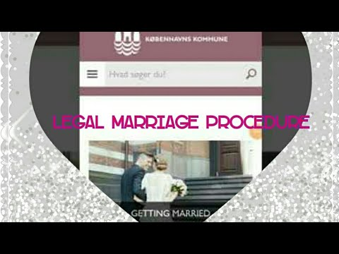 How to get married in Dänemark / Denmark : legal marriage procedure for getting married in germany