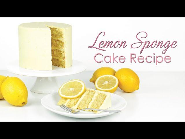 How to make my Lemon Sponge Cake Recipe - with lemon drizzle and lemon ganache