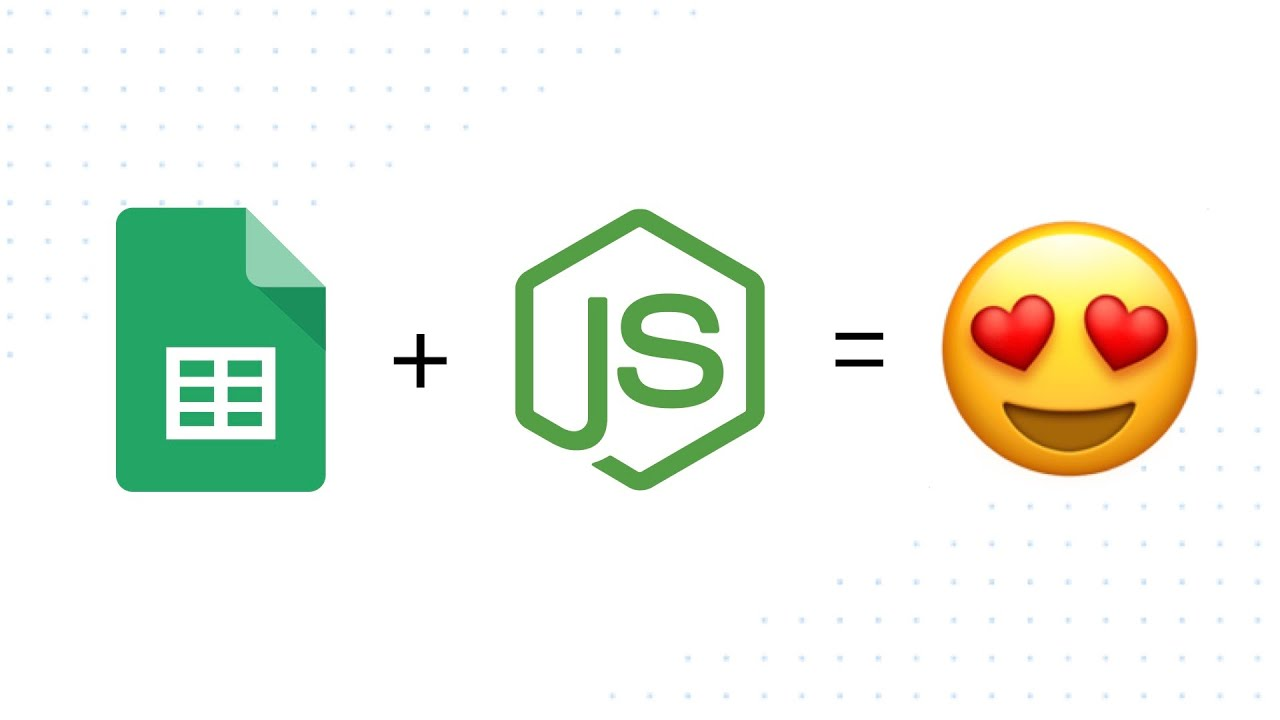 Google Sheets and JavaScript with Node js