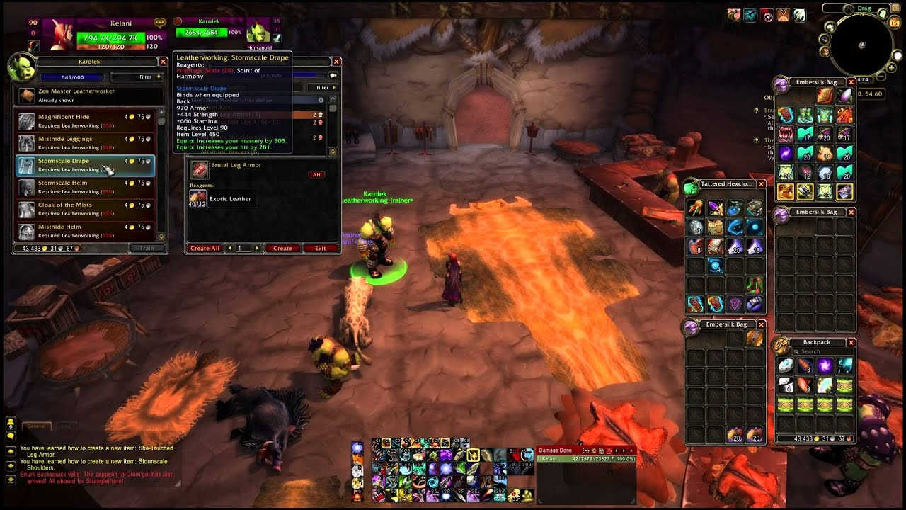 mists of pandaria leatherworking leveling guide 500 600 youtube rh youtube com 1-110 Leveling Guide WoW WoW 1 90 Leveling Guide