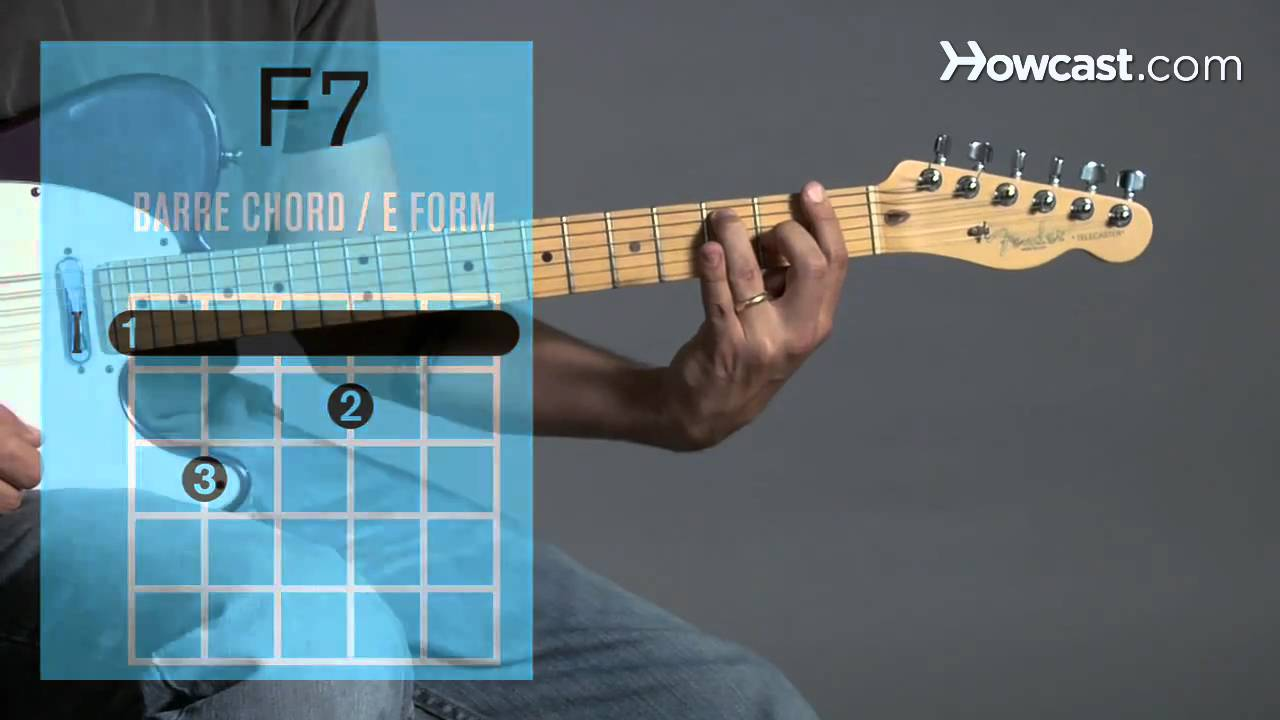 How To Play An F7 Barre Chord Guitar Lessons Youtube