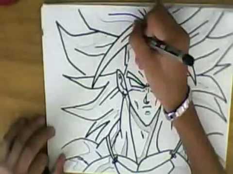 desenhando o broly do dbz youtube