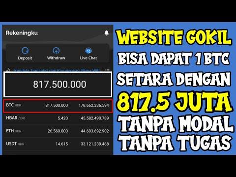 ???? TANPA TUGAS DIBAYAR HINGGA 800 JUTA ???? | WEBSITE PENGHASIL BITCOIN GRATIS 2021