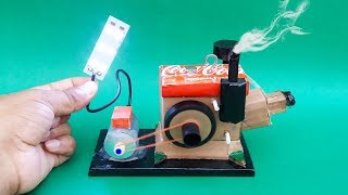 How To Make A Diesel Engine Generator Model Science Project | Mini Diesel Generator |Motor Generator